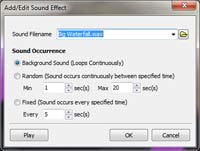 Adding sound effect